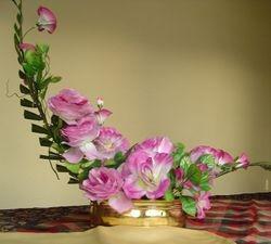 crescent flower arrangement
