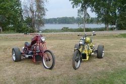 Both trikes at the lake