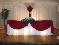 wedding backdrop head table