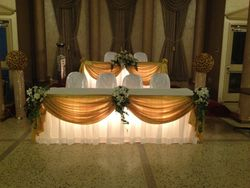wedding head tables decoration