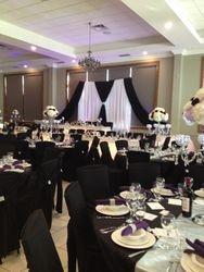 black wedding decoration