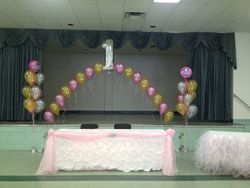 balloon arch for 1 year old girl