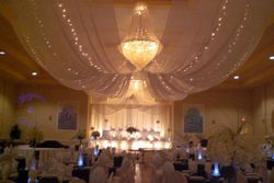 wedding ceiling draping