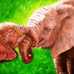 Another mother & baby painting
