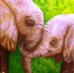Mother & Baby elephants . SOLD