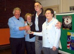 Triples Champion Sheila, Geoff, Margaret