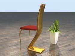 """Chair """"Louvre"""" brass back"""