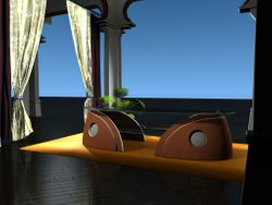 "Coffee table ""L'oiseau Curieux"""