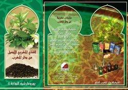 Brochure for tea brand