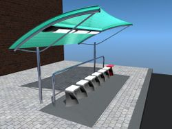 Procession bus stop seat