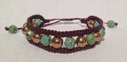 Shamballa double bronze hematite turquoise brun