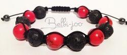 Shamballa turquoise rouge onyn noir