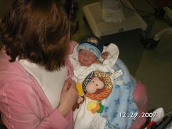 Mom holding Ben