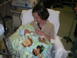 Aunt Liz holding Benjamin