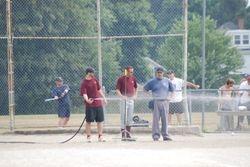 Christian hosing down the field