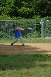 Shawn takes a swing