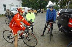 Riders waiting to start