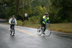 Melissa & her Dad riding the entire 10 miles!