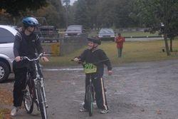 Rebecca & Cade rode the entire 10 miles!