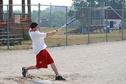 Dustin swinging hard