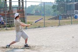 Little Dustin hitting one
