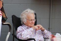 Gramma loves watching baseball