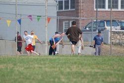 Dustin running to base