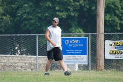Johnny playing the field