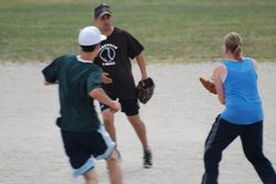 Andrew running to base