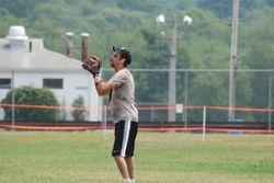 Mark preparing to catch