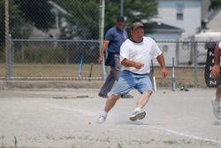 Bobby running to base