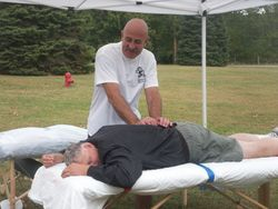 Active Health Massage gave riders free massages too