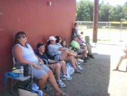 Checking out the softball games