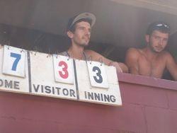 Andrew & Dustin doing the scorekeeping