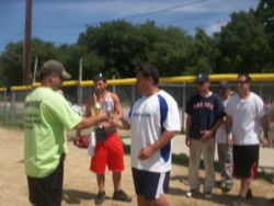 Master Batters receiving their trophy