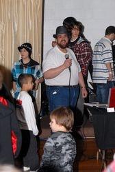 Joe singing some karaoke