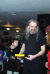 Doug won the autographed guitar case