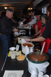 Serving up some delicious chili