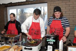 Joe, Scott & Troy served up chili for hours