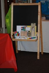 Art supplies & easel donated by Sweet Pea Family Day Care