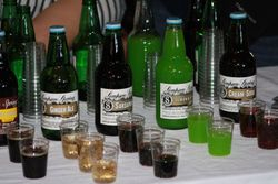 Simpson Springs soda & water samples