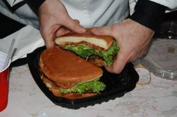 yeah, it's a big burger!
