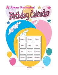 Always Remember Birthday Calendar