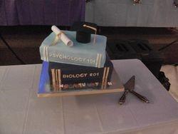 Stacked Books Graduation Cake. (UNC and ECU)