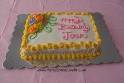 Spring/Flower Birthday Cake