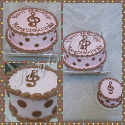Musical Note Themed Cake