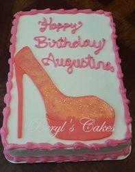 High heel shoe sheet cake