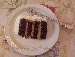 Inside the rose cake
