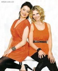 Beth Allen with Antonia Prebble