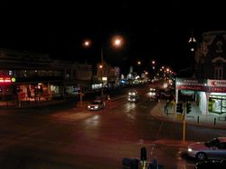 Kalgoorlie at Night top of the town